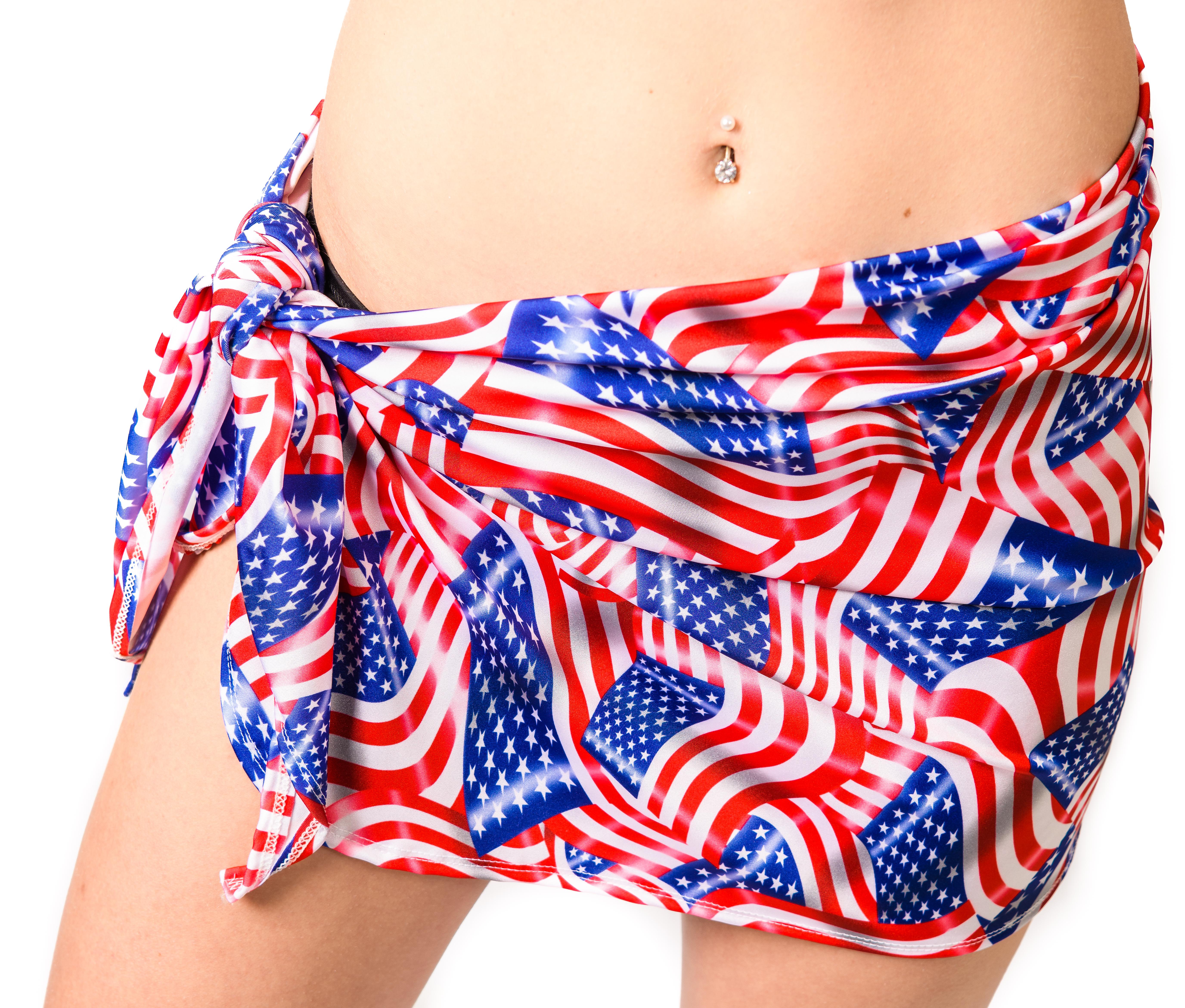 82f8b6ad115 Short Beach Cover Up Beach Skirt Sarong American Patriotic Flag ...