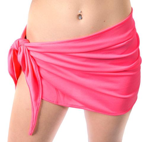 35bbe3aa46705 Bikini Wrap Mini Short Sarong Neon Bubble Gum