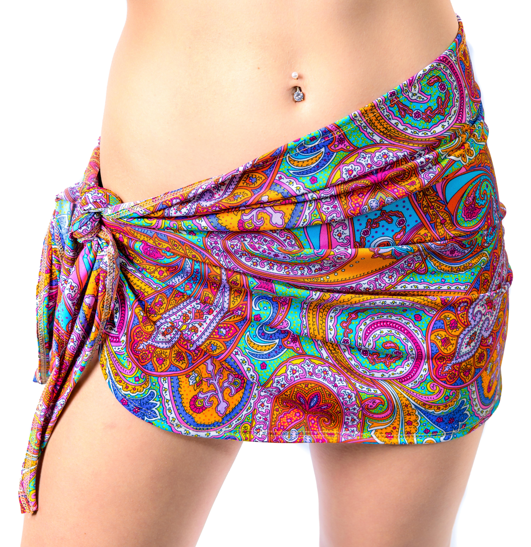 c93ca8602f Short Sarong Bikini Wrap Mini Beach Skirt Spring Paisley - Beach ...