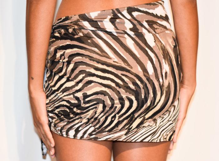 short sarong tiger swirls