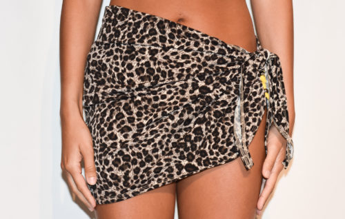 short sarong leopard