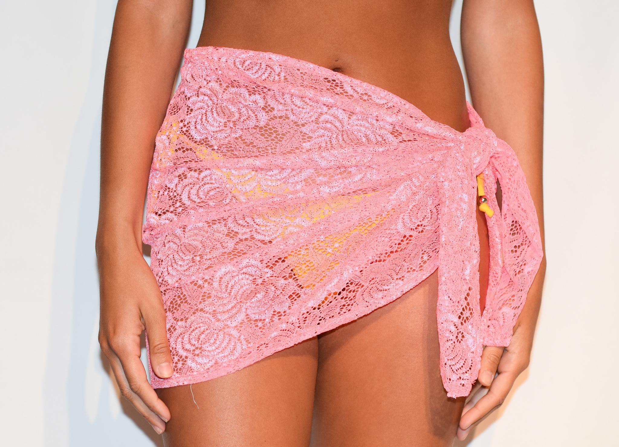 sarong pink lace