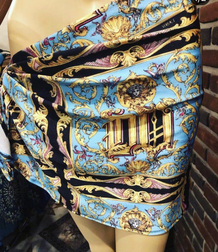 sarong short versace
