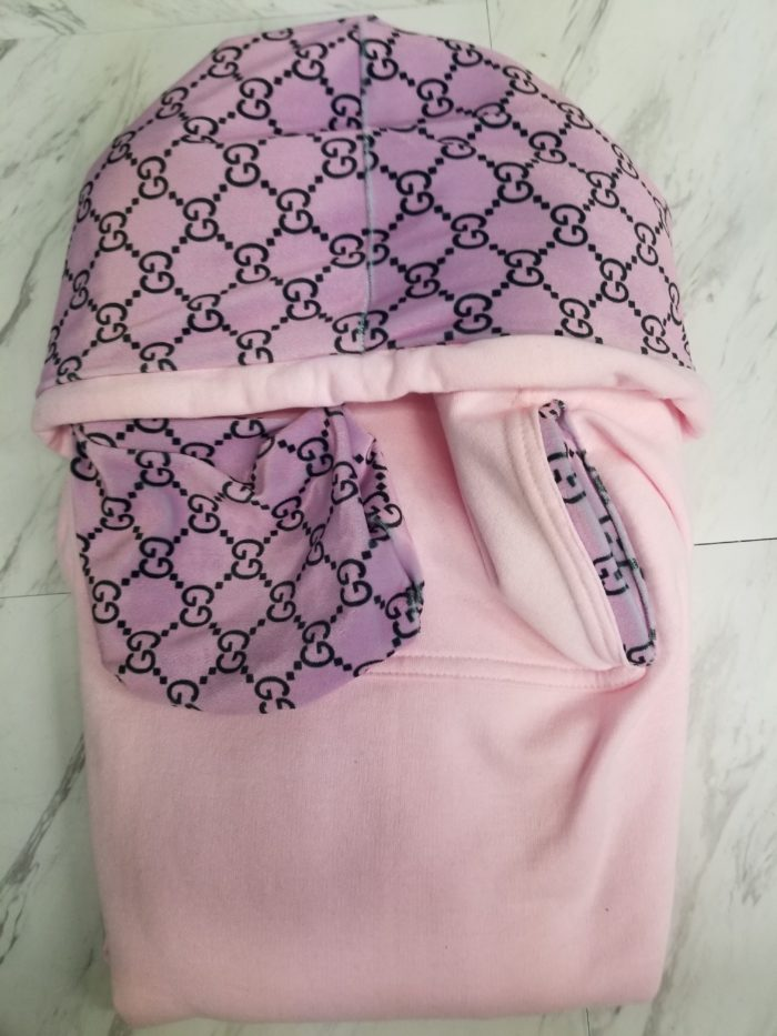 Hoodie Pink Pink F Pockets