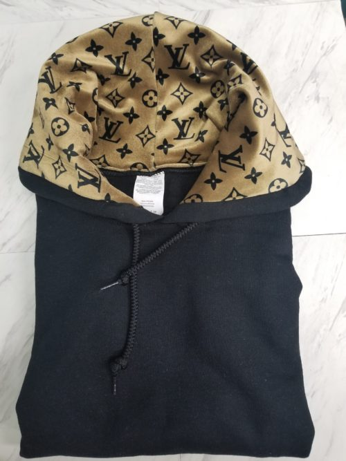 Hoodie Black Gold LV Front