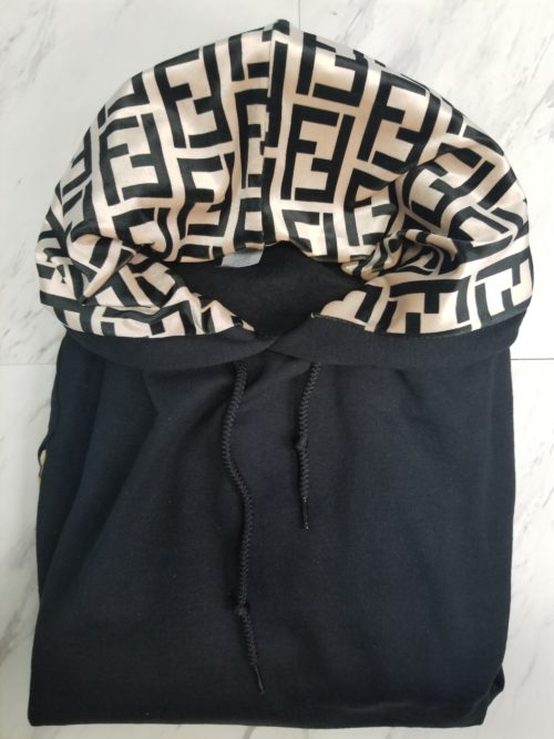 Hoodie Black Gold F-Front