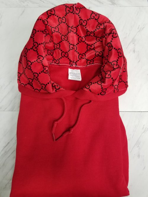 Hoodie Red/Red GG