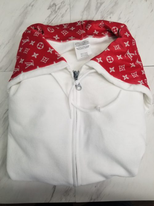 Hoodie White with red lv