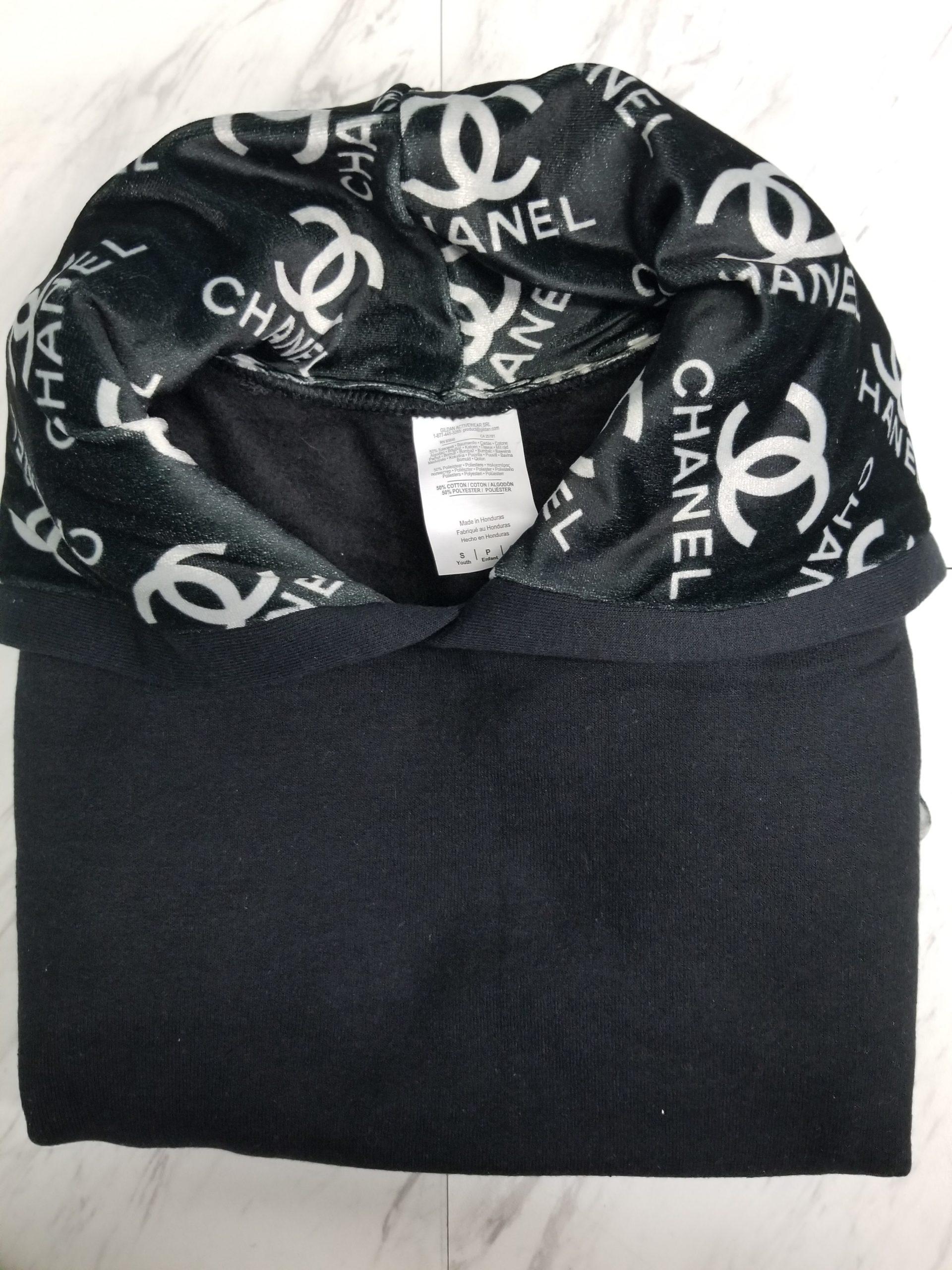 Hoodie Pull Over Black on Black CC