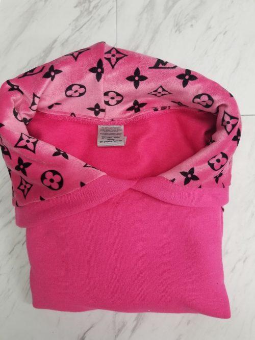 pink hoodie pink